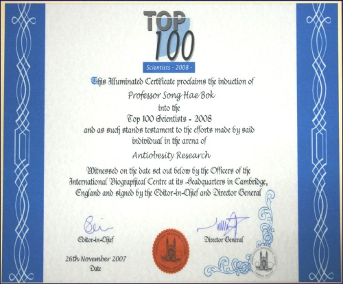 Top 100 scientist 2008